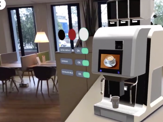 your coffee machine in AR